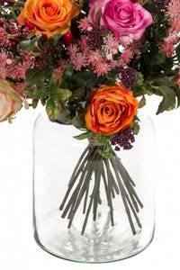 """Bilde av Kunstig Blomsterbukett """"Flame Roses"""""""