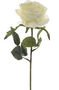 """Bilde av Kunstig Rose """"Simone"""" Hvit 45cm"""